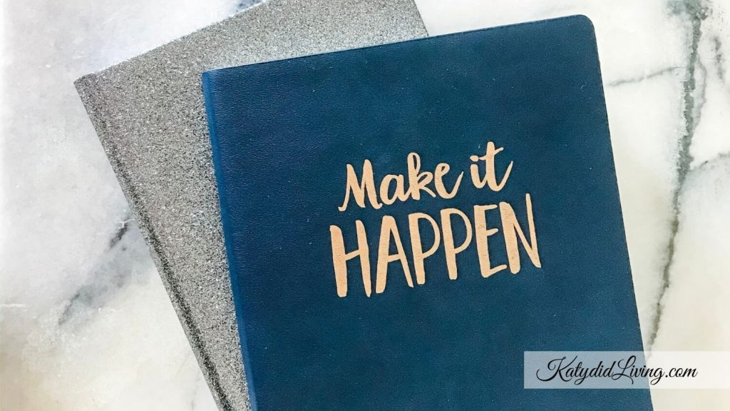 """Affirmations for Embryo Implantation   Journal that says """"Make it Happen"""" on the cover."""