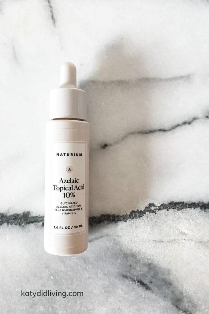 Morning Skin Care Routine - Naturium Azelaic Topical Acid 10%.